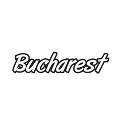 Bucharest europe capital text logo black white vector