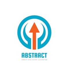 Business strategy - logo template concept vector