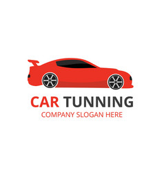 car tuning auto centre auto repair service red vector image