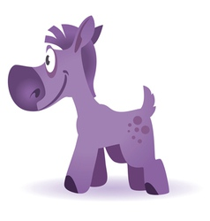 Cartoon funny horse vector