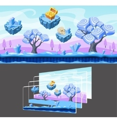 Cartoon Landscape Template vector image