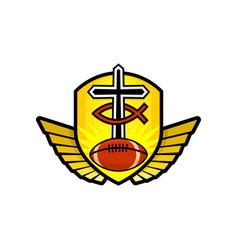 Christian sports logo vector