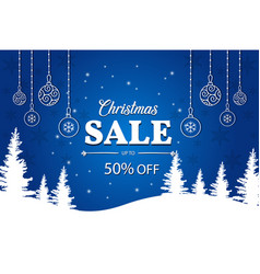 Christmas sale poster happy new year vector