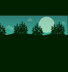 Collection style spruce tree scenery vector