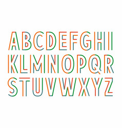 colorful parallel lines font vector image