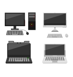 Computer laptop network and desktop technology vector image