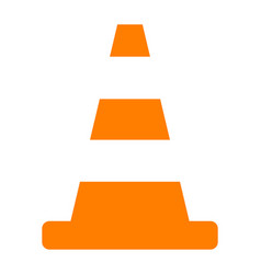 cone traffic vector image