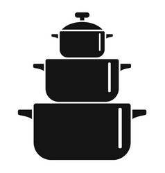 cooking pan icon simple style vector image
