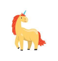 Cute unicorn magic fantasy animal character vector