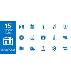 development icons vector image