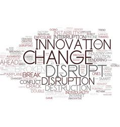 Disrupt word cloud concept vector