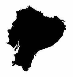 ecuador map dark silhouette vector image