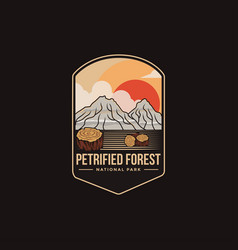 emblem logo petrified forest national park vector image