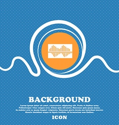Equalizer icon sign Blue and white abstract vector image