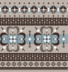 fair isle brown beige seamless pattern with vector image