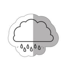 figure cloud rainning icon vector image