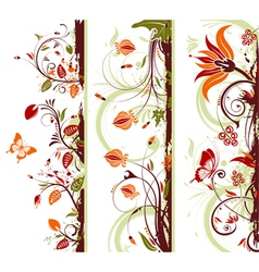 Floral frame with butterfly vector