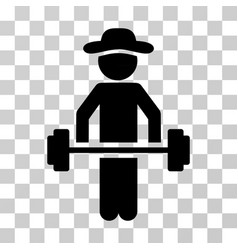 Gentleman power lifting icon vector