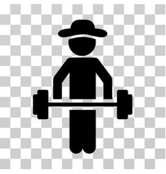 gentleman power lifting icon vector image