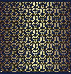 Geometric art deco circles lines seamless pattern vector