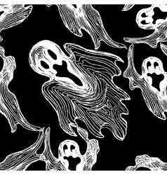 ghost seamless pattern vector image