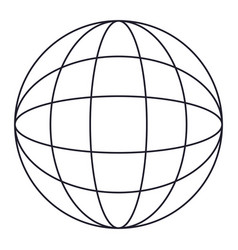 globe world icon in monochrome silhouette vector image