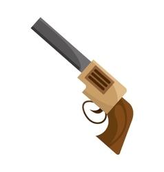Gun sherif wild west icon vector