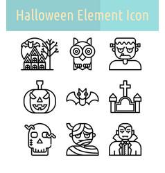 Halloween line icon vector