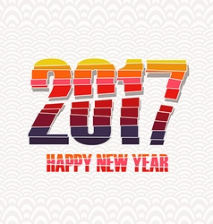 Happy new year 2017 creative colorful random paper vector image