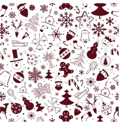 Happy New Year Holiday pattern vector image