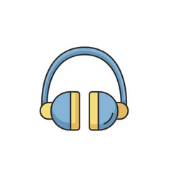 headset rgb color icon vector image