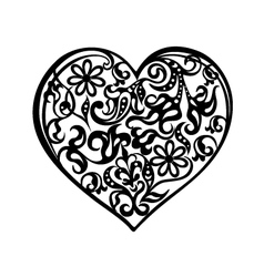 Heart tattoo black vector image