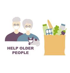 Help older people coronavirus older people in vector