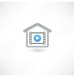 Home cinema icon vector