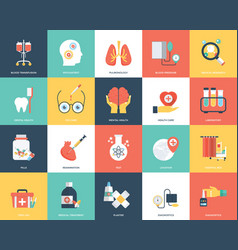 Icon set of medical and healthcare vector