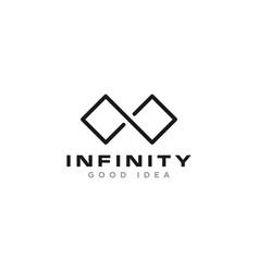 Infinity creative logo design vector