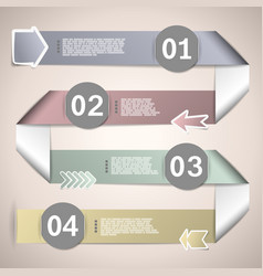 Infographic ribbons for data presentation vector