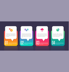 infographic template chart elements 4 steps vector image