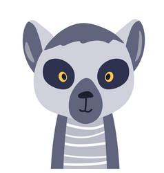 lemur cute animal baface vector image