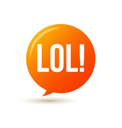 lol text speech label icon pop tag comic vector image