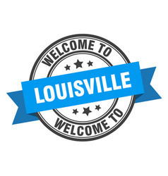 Louisville stamp welcome to louisville blue sign vector