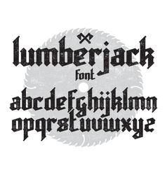 Lumberjack gothic font vector