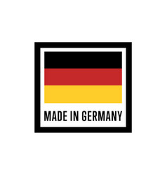 Made in germany isolated label for products vector
