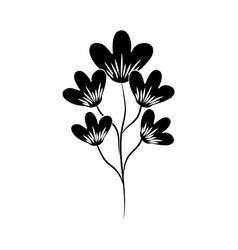 Minimalist tattoo flower decoration silhouette art vector