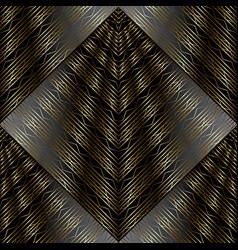 Modern striped lattice 3d seamless pattern vector