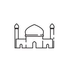 mosque twin tower sketch graphic design vector image