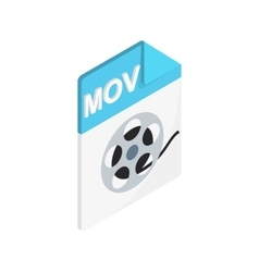 MOV icon isometric 3d style vector