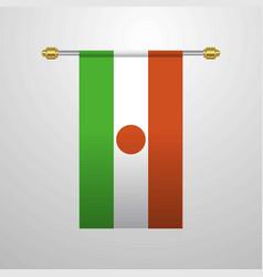 Niger hanging flag vector