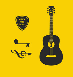 open up the music vector image