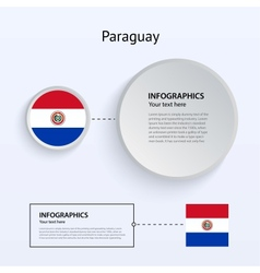 Paraguay Country Set of Banners vector